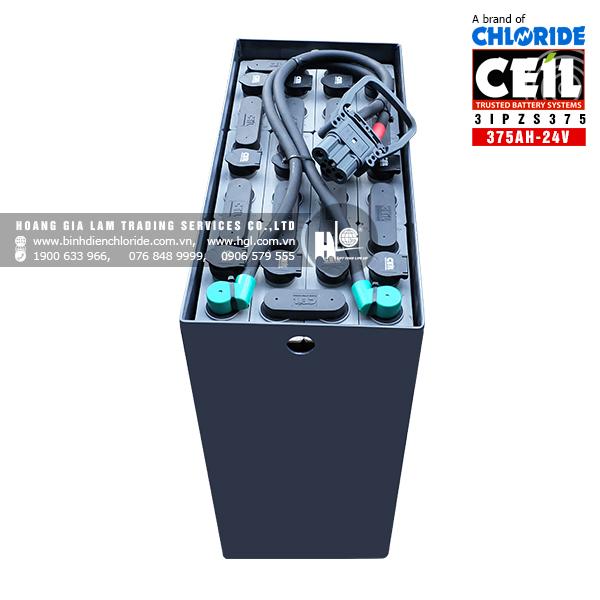 Bình điện xe nâng CEIL (Chloride) 24V - 375Ah 3IPZS375