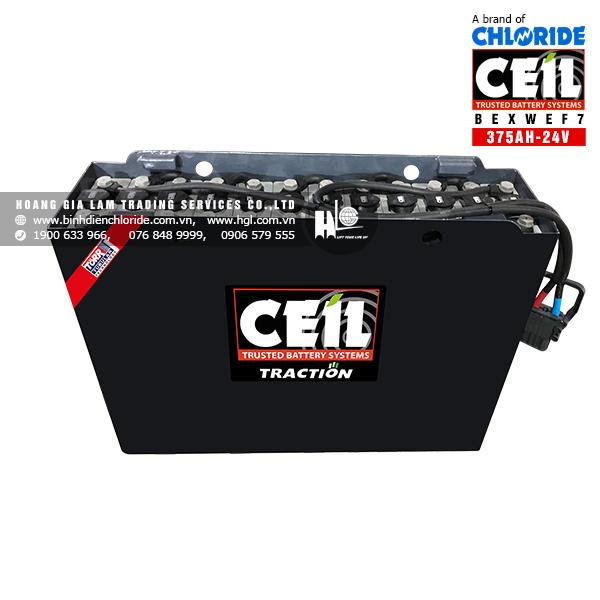 Bình điện xe nâng CEIL (Chloride) 24V - 375Ah BEXWEF7