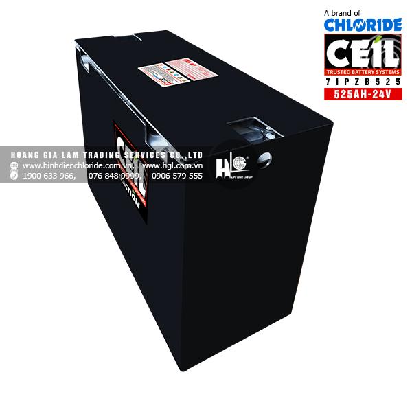 Bình điện xe nâng CEIL (Chloride) 24V - 525Ah 7IPZB525