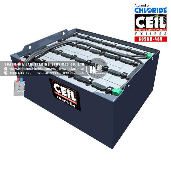 Bình điện xe nâng CEIL (Chloride) 48V - 605Ah EXILF23