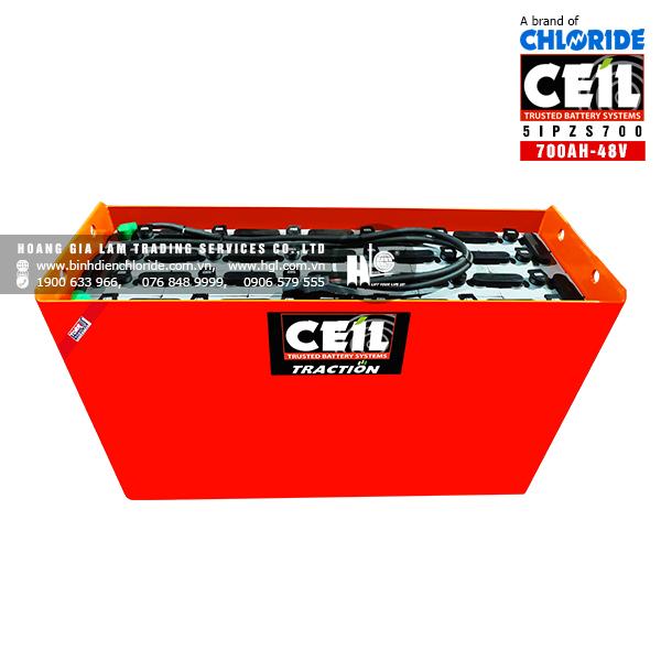 Bình điện xe nâng CEIL (Chloride) 48V - 700Ah 5IPZS700
