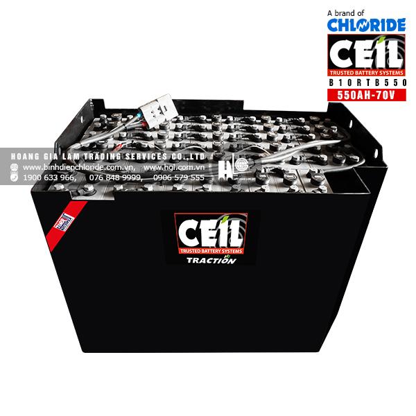 Bình điện xe nâng CEIL (Chloride) 70V - 550Ah B10RTB550