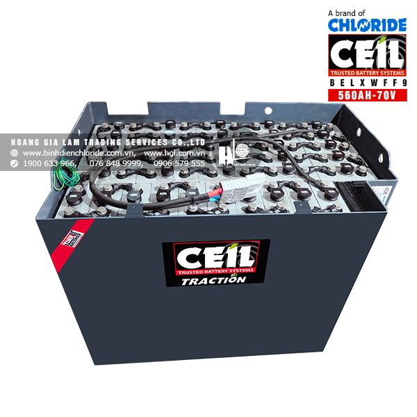Bình điện xe nâng CEIL (Chloride) 70V - 560Ah BELXWFF9