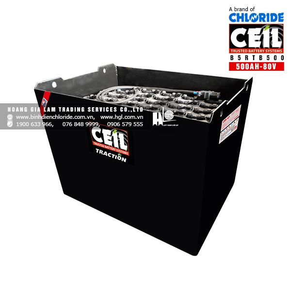 Bình điện xe nâng CEIL (Chloride) 80V - 500Ah B5RTB500