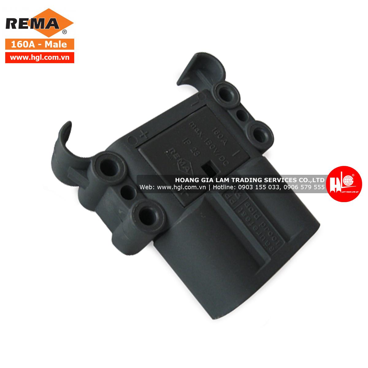 Giắc cắm xe nâng REMA 160A (Giắc đực)