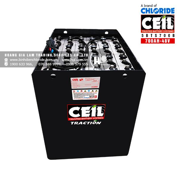 Bình điện xe nâng CEIL (Chloride) 48V - 700Ah 5BTS700B