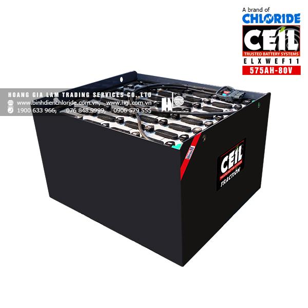 Bình điện xe nâng CEIL (Chloride) 80V - 575Ah ELXWEF11