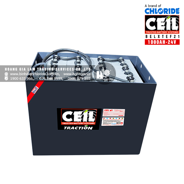 Bình điện xe nâng CEIL (Chloride) 24V - 1000Ah BELXTEF21