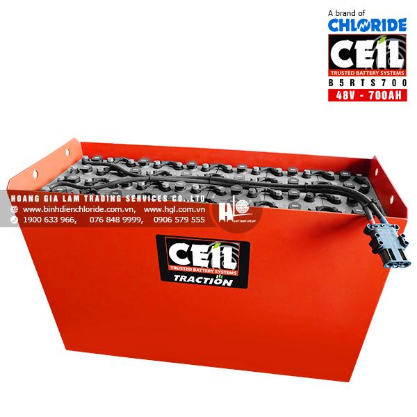Bình điện xe nâng CEIL (Chloride) 48V - 700Ah B5RTS700