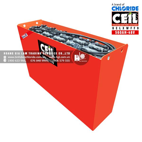 Bình điện xe nâng CEIL (Chloride) 48V - 560Ah BELXWFF9