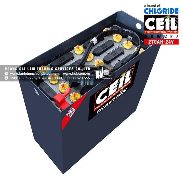 Bình điện xe nâng CEIL (Chloride) 24V - 270AH EXWCF7
