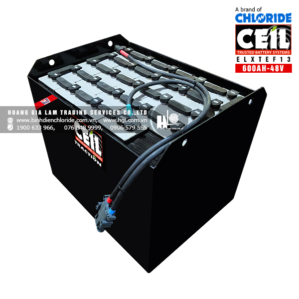 Bình điện xe nâng CEIL (Chloride) 48V - 600Ah ELXTEF13