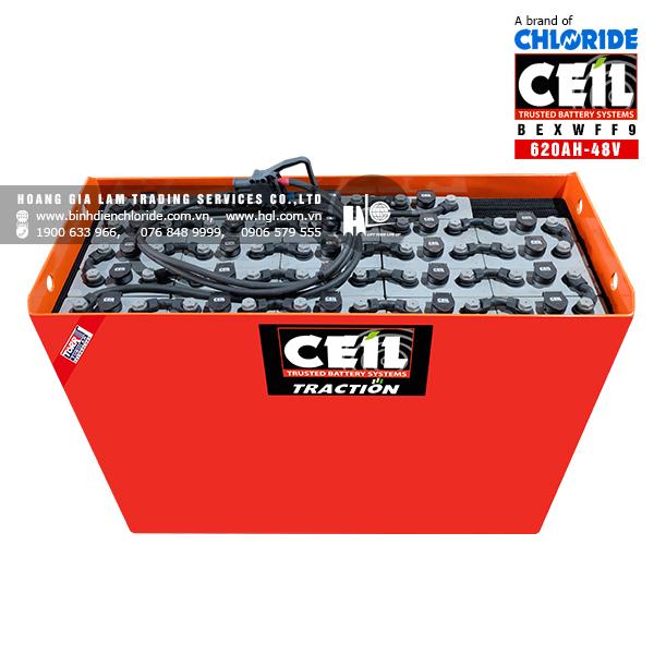 Bình điện xe nâng CEIL (Chloride) 48V - 620Ah BEXWFF9