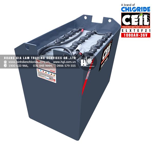 Bình điện xe nâng CEIL (Chloride) 36V -1000Ah ELXTEF21