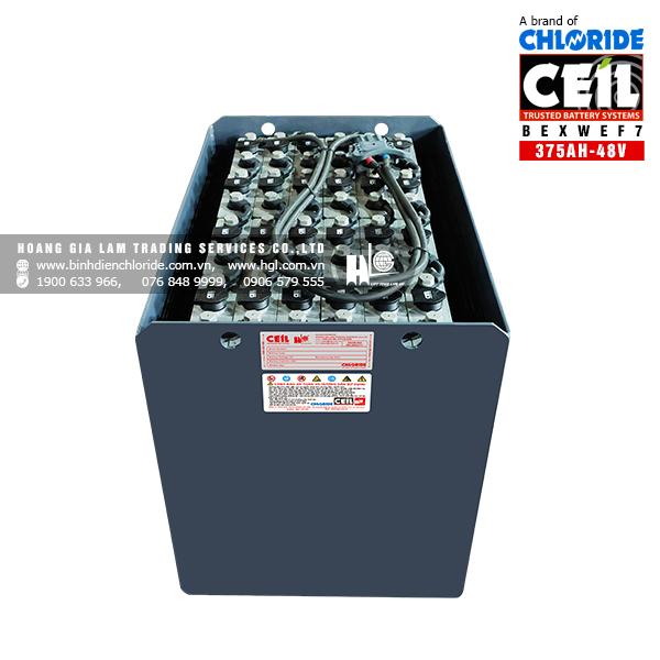 Bình điện xe nâng CEIL (Chloride) 48V - 375Ah BEXWEF7